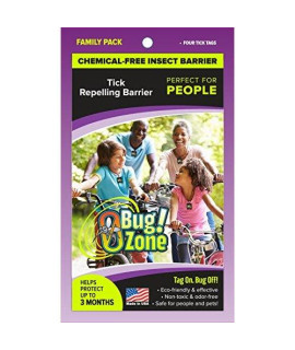 0Bug!Zone Tick Barrier Tags, Family Pack