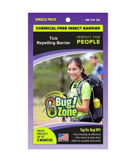 0Bug!Zone People Tick Barrier Tag, Single Pack