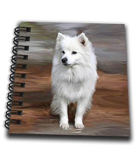 3dRose db_4178_3 American Eskimo Toy Dog Mini Notepad, 4 by 4""
