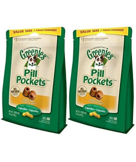 Greenies Pill Pockets Treats for Dogs 15.8oz Value Packs (2-Pack Chicken)