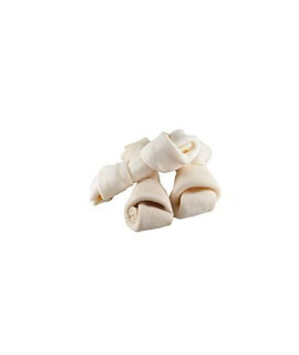 "123 Treats | Rawhide Bones Chews 3-4"" (50 Count) Premium Rawhide Dog Bones 