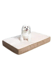 Milliard Quilted Padded Orthopedic Dog Bed, Egg Crate Foam Plush Pillow Top Washable Cover | 35X22X4