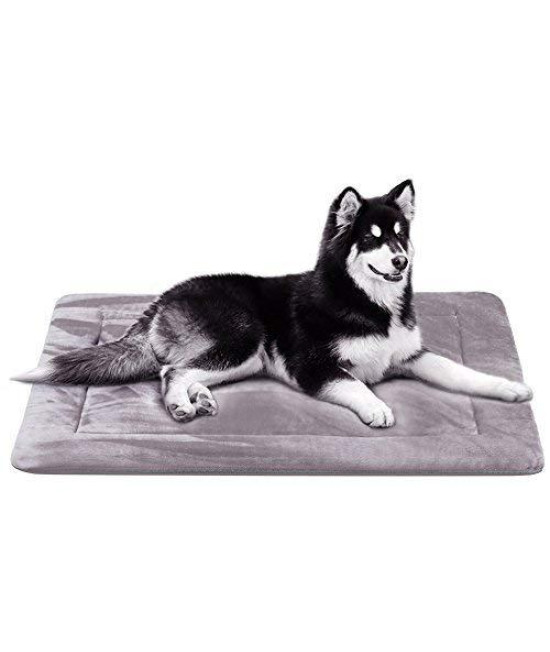 Dog Bed Large Crate Pad Mat Soft Anti-Slip Washable Mattress 28/35/42/47 In - Luxury Rich Color,L Fleece (42In)