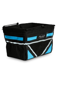 Travelin K9 2018 Pet-Pilot Dog Bike Basket Carrier | 7 Color Options For Your Bicycle (Neon Blue)