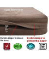 Dogbed4Less Orthopedic Memory Foam Dog Bed With Brown Suede Cover, Waterproof Liner And Extra Replacement Pet Bed Case, 41X27X4 Inch