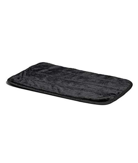 "Midwest Quiet Time Pet Bed Deluxe Black Fur Pet Mat 49"" X 30 """