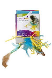 Smartykat Purrfect Play Cat Toy Activity Mat With Catnip, Feathers And Crinkle Sounds