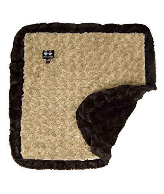 Bessie And Barnie Camel Rose/Godiva Brown Luxury Ultra Plush Faux Fur Pet, Dog, Cat, Puppy Super Soft Reversible Blanket (Multiple Sizes)