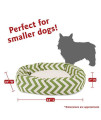 24 Inch Sage Chevron Sherpa Bagel Dog Bed