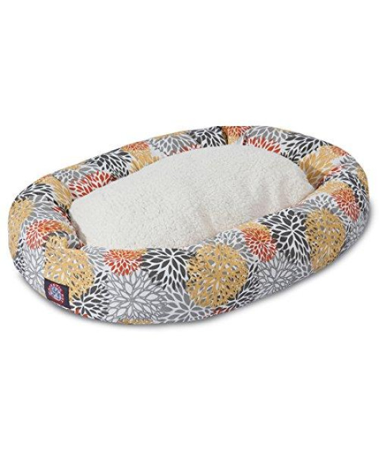 "Majestic Pet 24"" Citrus Blooms Sherpa Bagel Bed"