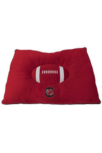 Pets First Collegiate Pet Accessories, Dog Bed, South Carolina Gamecocks, 30 X 20 X 4 Inches