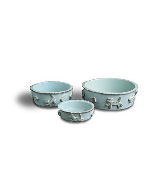 Carmel Ceramica Pdsb3003 Dog Food/Water Bowl, Baby Blue, Small