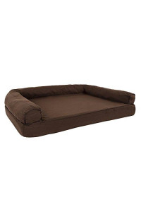 Petmaker Orthopedic Pet Sofa Bed With Memory Foam And Foam Stuffed Bolsters 42X28X8.5 Brown