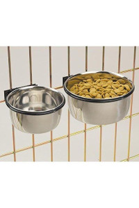 Classic Stainless Steel Bolt On Coop Cup Bowls For Dogs - Five Sizes To Choose (16 Ounces)