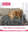 "Petlo Soft Fleece Dog And Pet Blanket - Extra Comfortable Reversible Velour And Short Plush Fabric Protects Furniture And Beds - Machine Washable And Pill Resistant - 41"" X 55"""