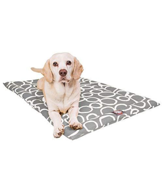 "30"" Fusion Gray Crate Dog Bed Mat By Majestic Pet Products"