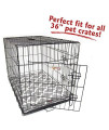 "36"" Trellis Gray Crate Dog Bed Mat By Majestic Pet Products"