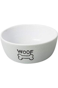"Ethical Pets 58545 Spot Nantucket Dog Dish, 5"", Gray"