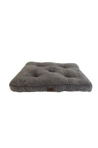American Kennel Club Akc Large Pixel Crate Dog Pet Bed, Gray, 36 Inch By 23 Inch