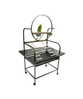 "The O"" Parrot Play Stand J6 Black"