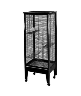 Medium - 4 Level Small Animal Cage on Casters SA2420H BK/PL