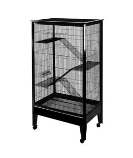 Large - 4 Level Small Animal Cage on Casters SA3221H PL/BK