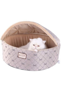 Armarkat Cat Bed, Small, Pale Silver and Beige