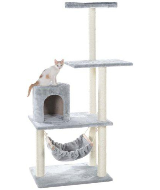 "GleePet 59"" Cat Tree GP78590222 Silver Gray W Hammack"