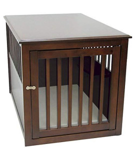 Crown Pet Crate Table, Large Size, with Espresso Finish