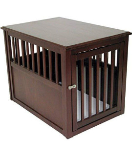 Crown Pet Crate Table, Medium Size, With Espresso Finish