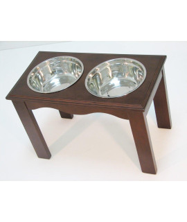 Crown Pet Diner, X-Large size, with Espresso Finish