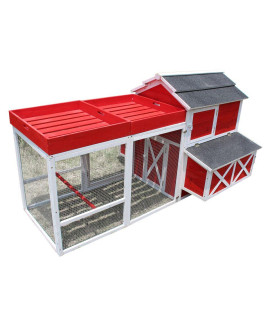 Red Barn with Roof Top Planter