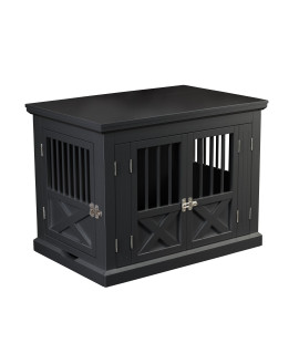 Triple Door Dog Crate, Black, Medium