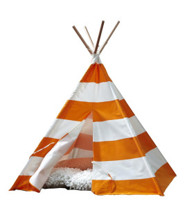 Teepee Orange with White Stripes