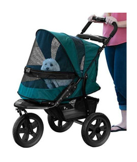 Pet Gear No-Zip AT3 Pet Stroller, Zipperless Entry, Forest Green