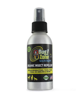 0Bug! Zone ORGANIC INSECT REPELLENT SPRAY 4OZ (PEOPLE, HORSES, DOGS)