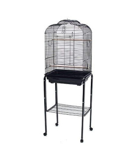YML 1904_4924BLK Open Shell Top Cage With Stand