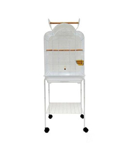 YML 1904_4924WHT Open Shell Top Cage With Stand