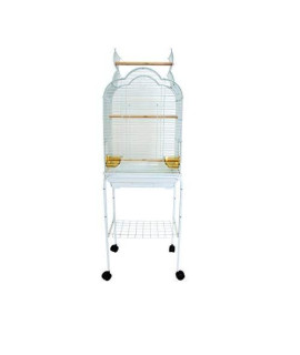 "YML 5/8"" Bar Spacing Small Parrot Cage, 18 x 14"", White"