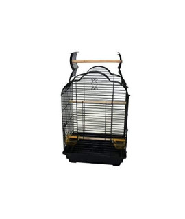 "YML Bar Spacing Small Parrot Cage, 18 x 14"", Black"