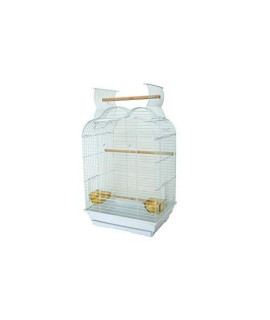 "YML Bar Spacing Small Parrot Cage, 18 x 14"", White"