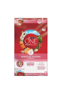 Purina One Natural Sensitive Stomach Dry Dog Food, Smartblend Sensitive Systems Formula - 31.1 Lb. Bag