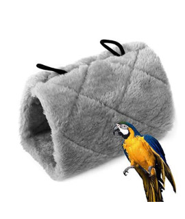 Stoncel Parrot Bird Hammock Hanging Cave Cage Plush Snuggle Happy Hut Tent Bed Bunk Parrot Toy (M)
