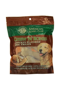 American Kennel Club Chicken Chew 'N Bones, 3.25 X 7.25 X 10-Inch