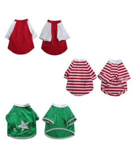 Pretty Pet Apparel with Sleeves Asst 2 (set of 3)