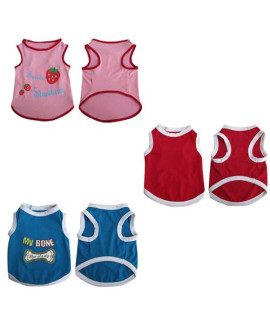 Pretty Pet Tank Top Asst 4 (set of 3)