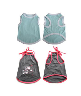 Pretty Pet Apparel without Sleeves Asst 1 (set of 2)
