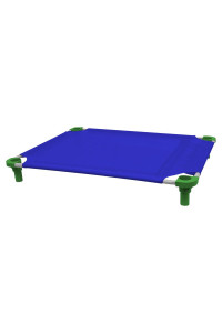 40x30 Pet Cot in Blue with Dustin Green Legs, Unassembled