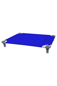 40x30 Pet Cot in Blue with Gray Legs, Unassembled