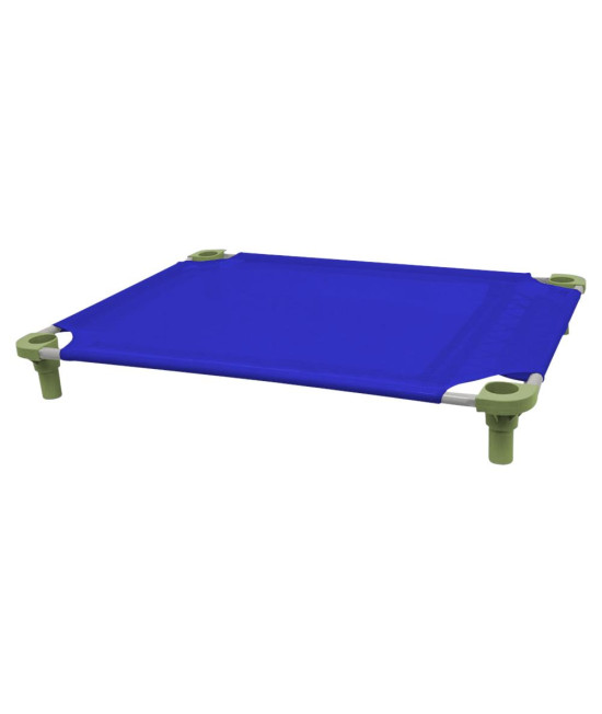 40x30 Pet Cot in Blue with Sage Legs, Unassembled